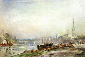 Albert-Charles Lebourg (Albert-Marie Lebourg) - Rouen, the Seine and the Cathedral