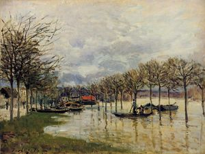 Alfred Sisley - The Flood on the Road to Saint Germain