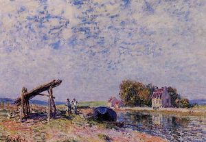 Alfred Sisley - The Loing Canal at Saint Mammes