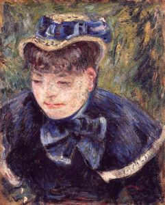 Jean Baptiste Armand Guillaumin - Young Woman with a Blue Cape and Scarf