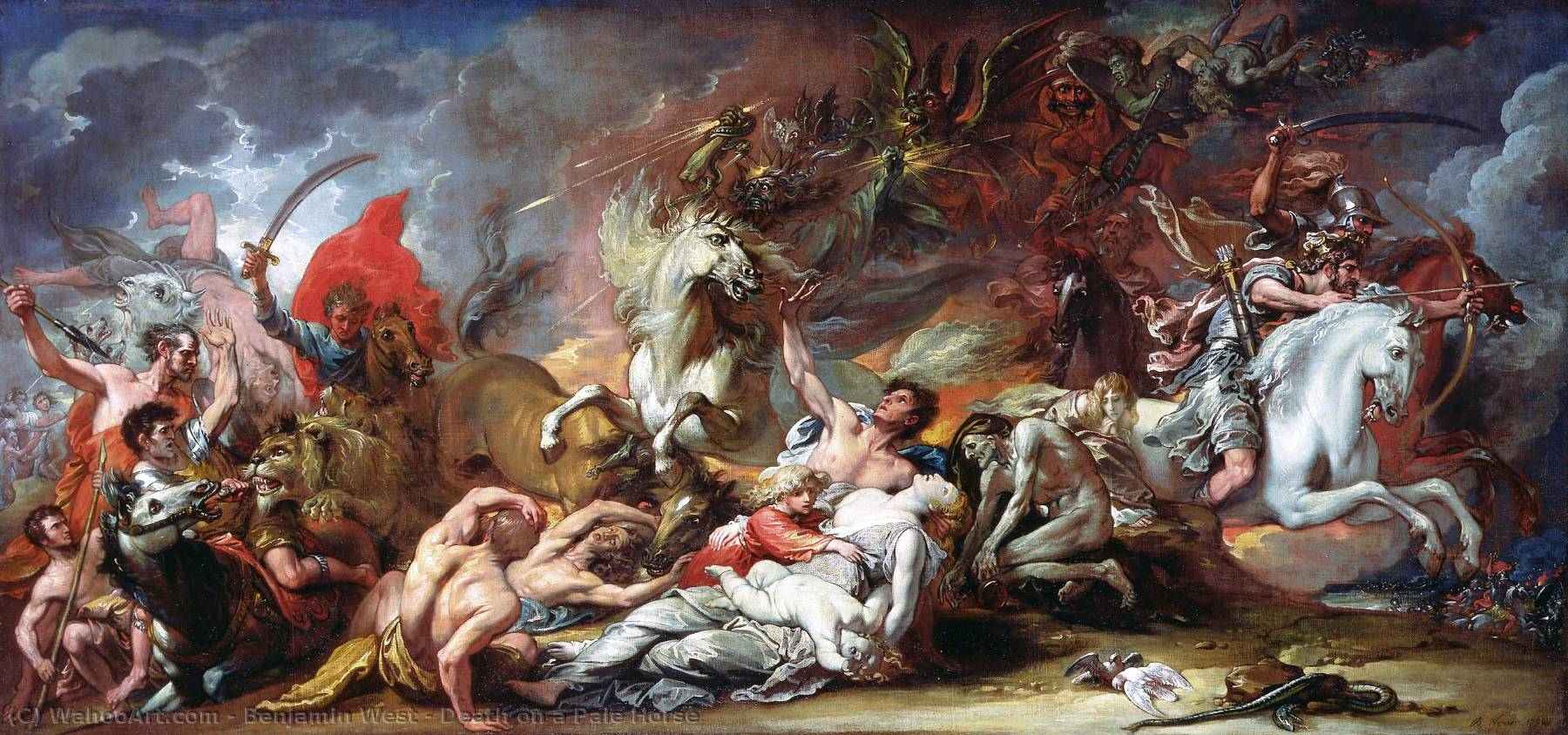 famous painting Death on a Pale Horse of Benjamin West