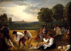 Benjamin West - Harvesting at Windsor