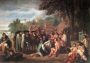 Benjamin West - The Treaty of Penn with the Indians
