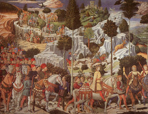 Benozzo Gozzoli - Procession of the Magus Gaspar