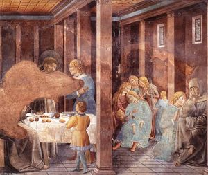 Benozzo Gozzoli - Scenes from the Life of St Francis (Scene 8, south wall)