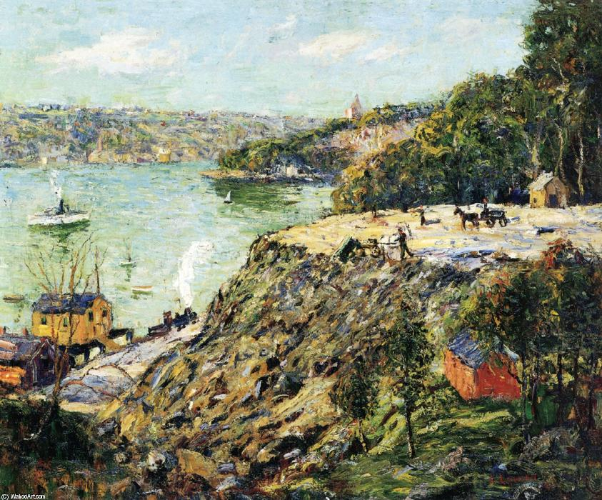 famous painting Across the River, New York of Ernest Lawson
