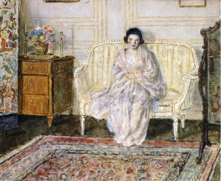 famous painting Woman In An Interior of Frederick Carl Frieseke