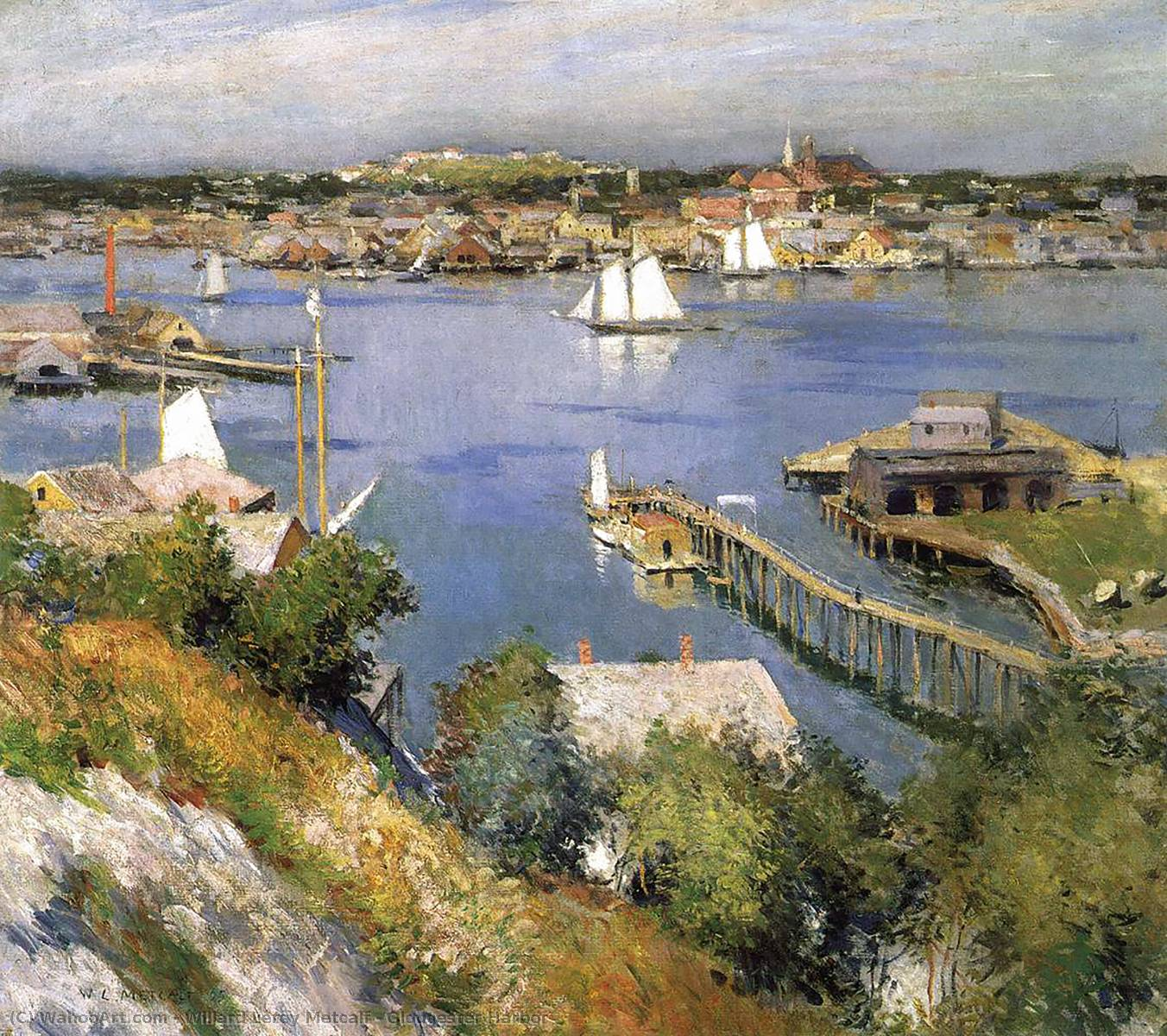 Order Reproductions | Gloucester Harbor by Willard Leroy Metcalf | Most-Famous-Paintings.com
