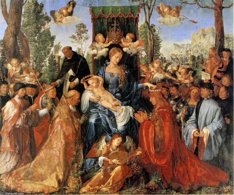 famous painting Feast Of The Rose Garlands of Albrecht Durer