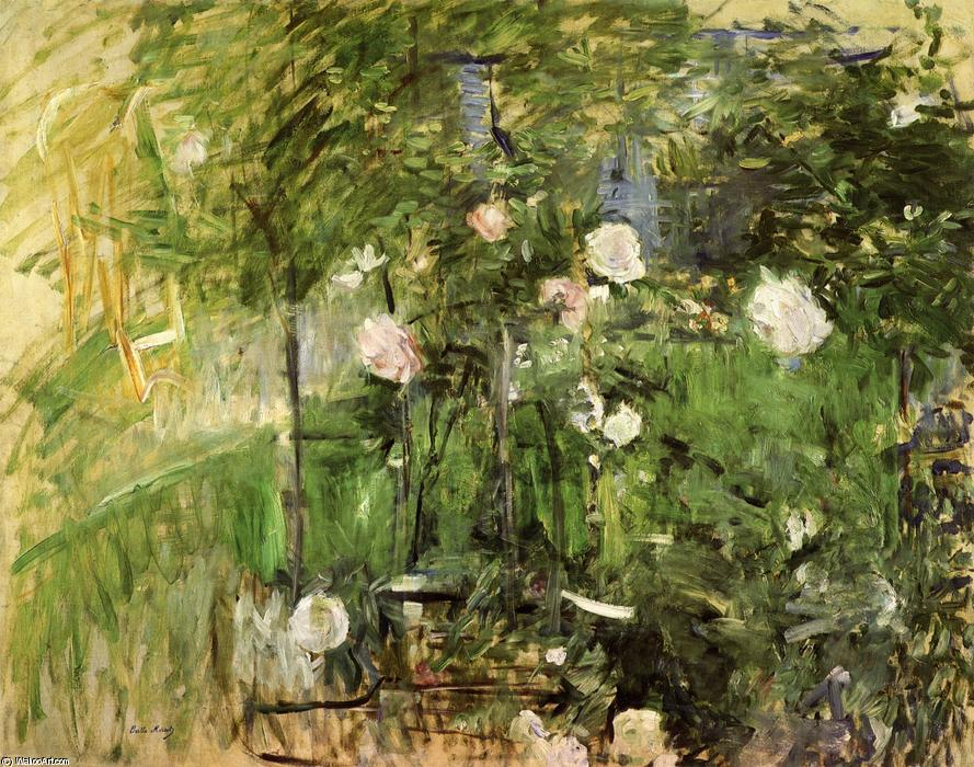famous painting A Corner of the Rose Garden of Berthe Morisot