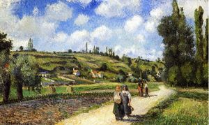 Camille Pissarro - Landscape near Pontoise, the Auvers Road
