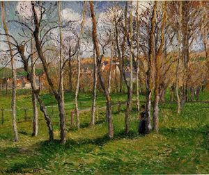 Camille Pissarro - Meadow at Bazincourt 1