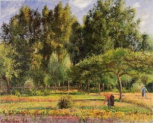 Camille Pissarro - Poplars, Afternoon in Eragny