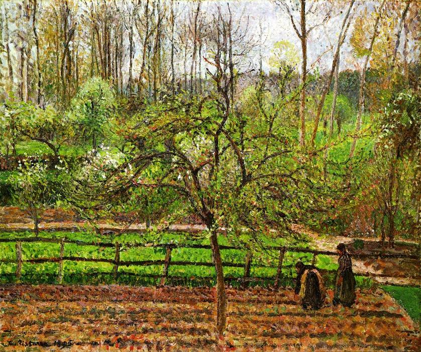 Order Art Reproductions | Spring, Gray Weather, Eragny by Camille Pissarro | Most-Famous-Paintings.com