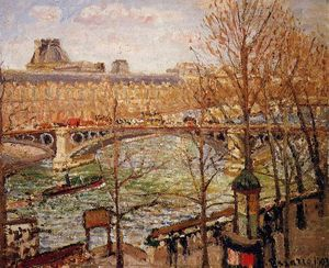 Camille Pissarro - The Pont du Carrousel, Afternoon