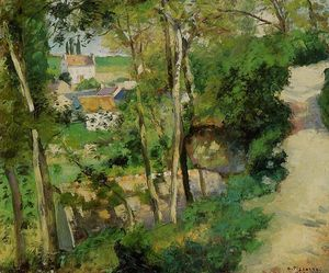 Camille Pissarro - The Rising Path, Pontoise
