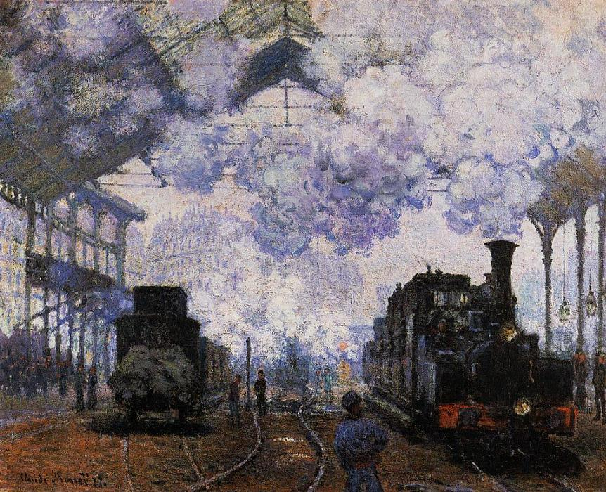 famous painting Arrival at Saint-Lazare Station of Claude Monet