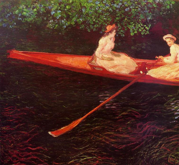 Order Museum Quality Copies | Boating on the River Epte by Claude Monet | Most-Famous-Paintings.com