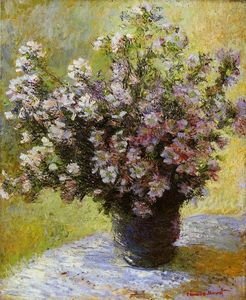 Claude Monet - Bouquet of Mallows