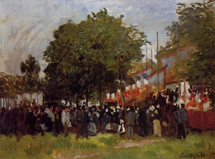 famous painting Fete at Argenteuil of Claude Monet