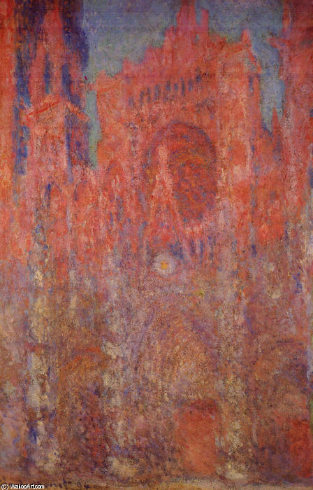 famous painting Rouen Cathedral of Claude Monet