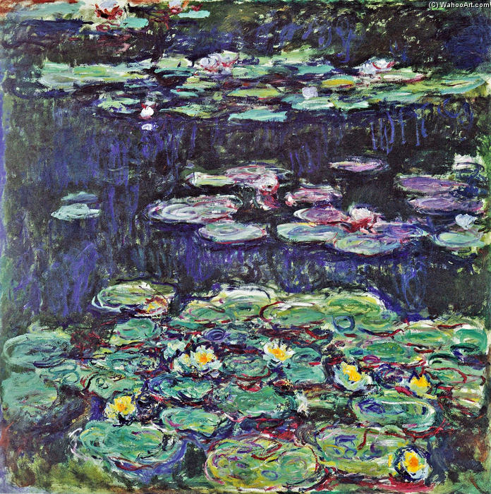 Order Reproductions | Water Lilies (43) by Claude Monet | Most-Famous-Paintings.com