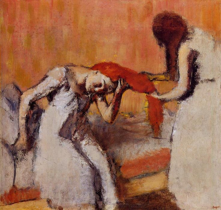 Order Museum Quality Copies | Combing the Hair 1 by Edgar Degas | Most-Famous-Paintings.com