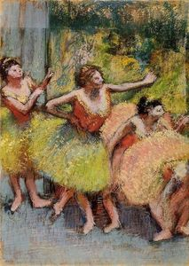 Edgar Degas - Dancers in Green and Yellow