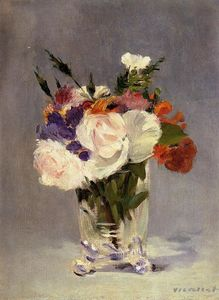 Edouard Manet - Flowers in a Crystal Vast