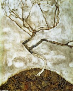 Egon Schiele - A Tree in Late Autumn