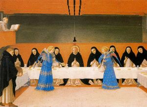Fra Angelico - The Angels Serve Food to the Monks