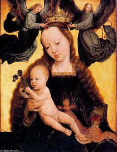 Gerard David - The Virgin and Child with two angels crowning her