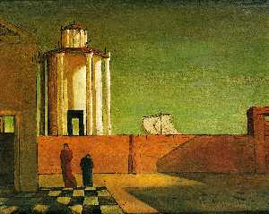 Giorgio De Chirico - Enigma of the arrival of evening