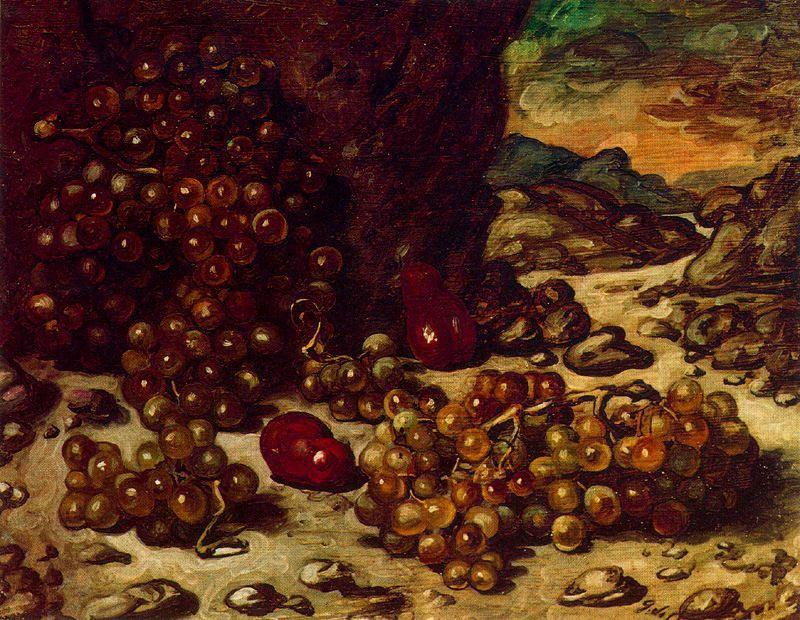 | Still Life with rocky landscape by Giorgio De Chirico | Most-Famous-Paintings.com