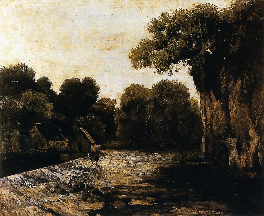 famous painting Locks on the Loue of Gustave Courbet