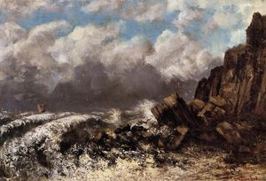 Gustave Courbet - Seascape at Etretat