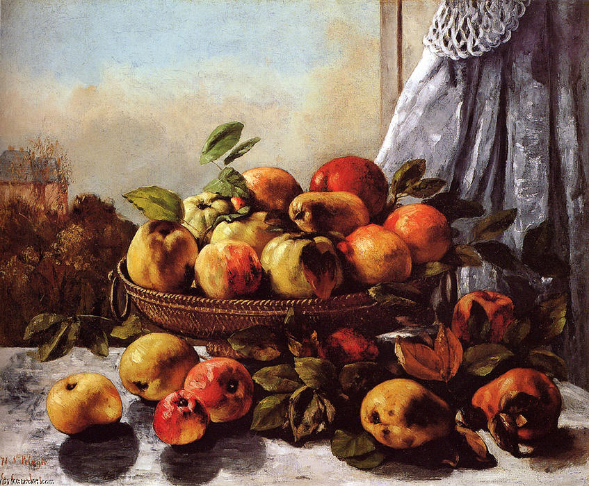 Order Reproductions | Still Life Fruit by Gustave Courbet | Most-Famous-Paintings.com