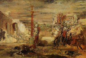 Gustave Moreau - Death Offers the Crown to the Tornament Vircor