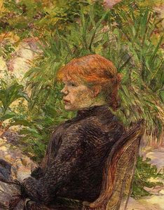 Henri De Toulouse Lautrec - Red Haired Woman Seated in the Garden of M. Forest