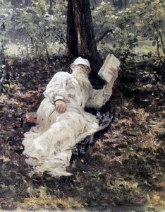 Ilya Yefimovich Repin - Leo Tolstoy in the forest