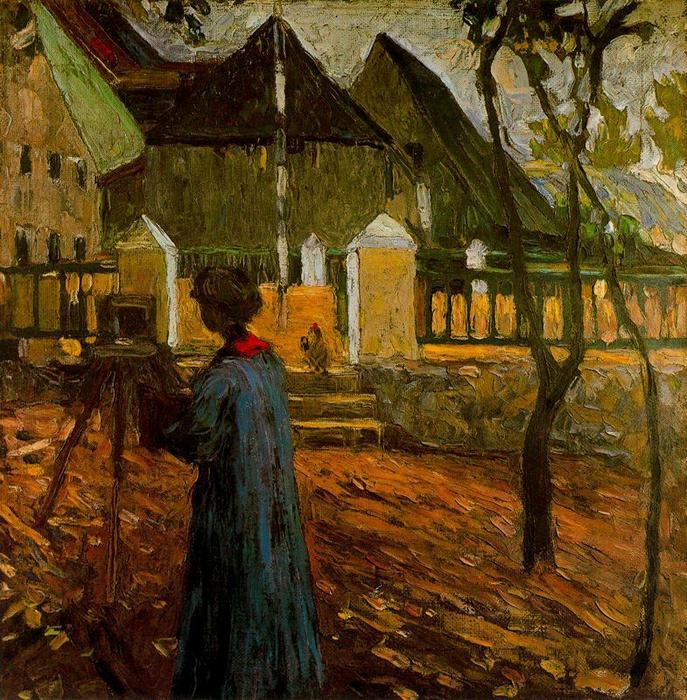 famous painting Gabriele Münter painting in Kallmunz of Wassily Kandinsky