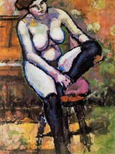 Marcel Duchamp - Nude with black stockings