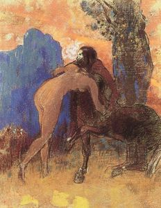 Odilon Redon - Struggle between Woman and Centaur