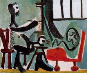 Pablo Picasso - The painter and his model 14