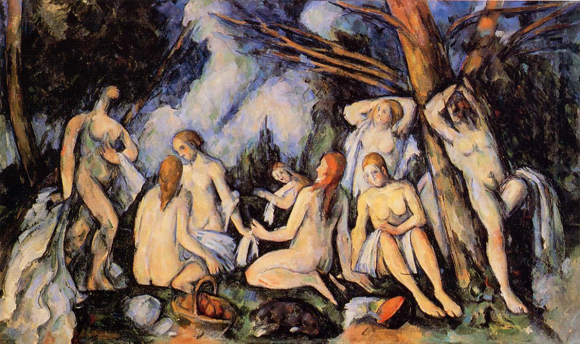 Order Paintings Reproductions | The Large Bathers by Paul Cezanne | Most-Famous-Paintings.com