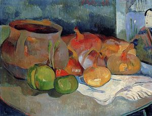 Paul Gauguin - Still Life with Onions, Beetroot and a Japanese Print