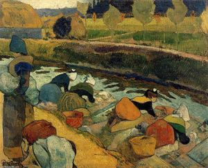 Paul Gauguin - Washerwomen at the Roubine du Roi. Arles