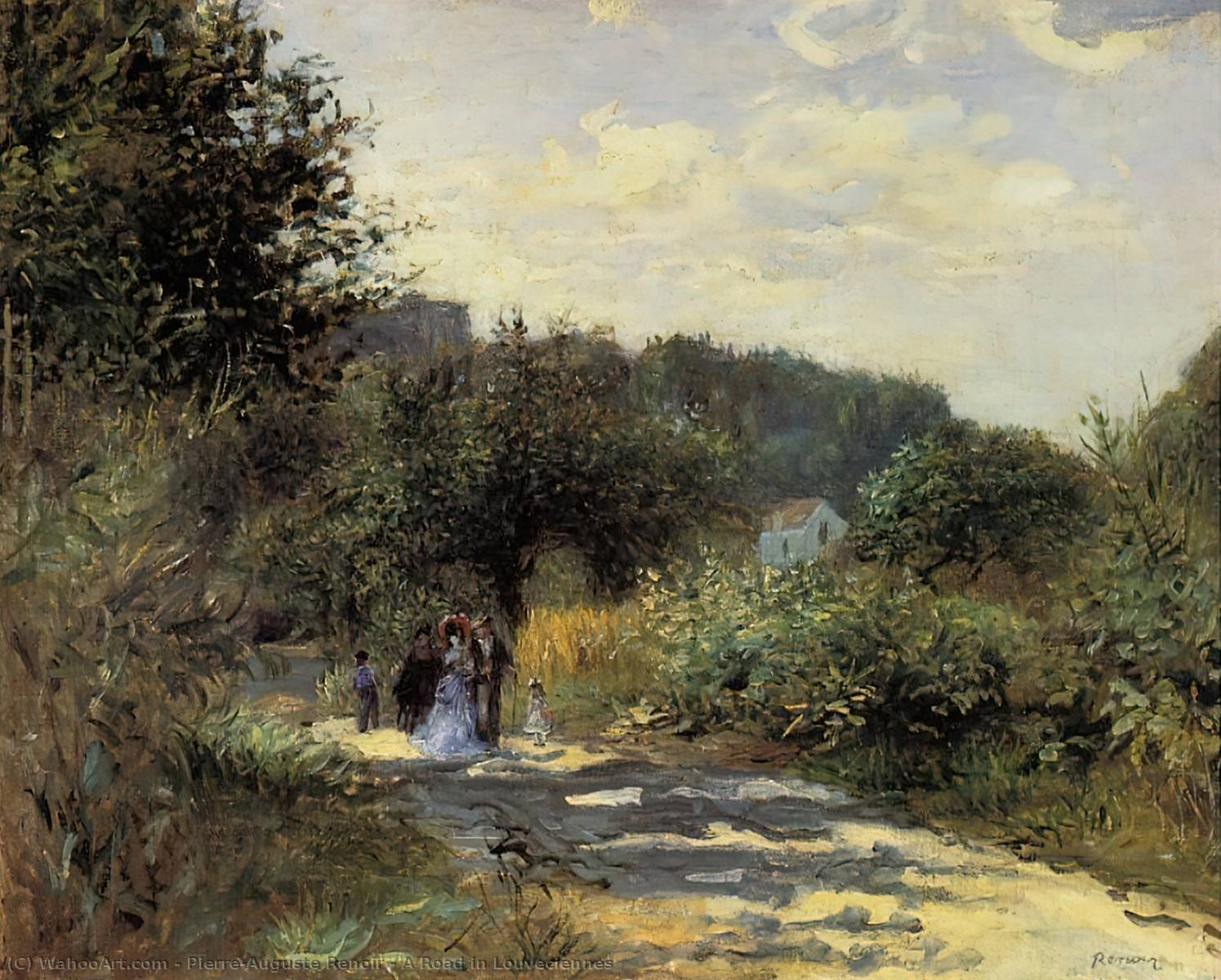 famous painting A Road in Louveciennes of Pierre-Auguste Renoir