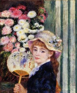 Pierre-Auguste Renoir - Girl with Fan