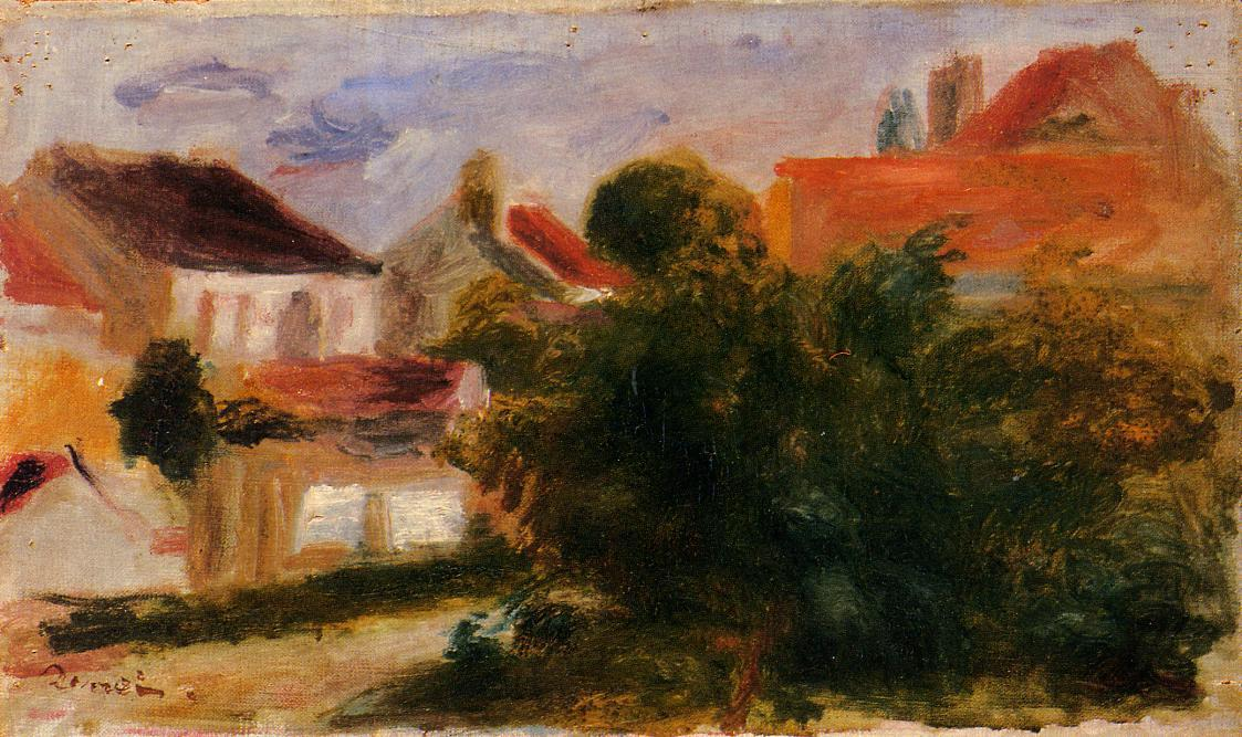 famous painting Landscape at Essoyes of Pierre-Auguste Renoir